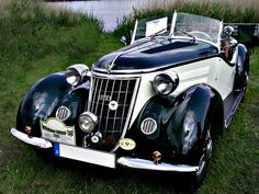 Part of what became Auto Union in which ultimately became Audi, again. Audi Motor, Vintage Cars, Antique Cars, Muscle Cars, Auto Union, Auto Retro, Classy Cars, Cabriolet, Audi Cars
