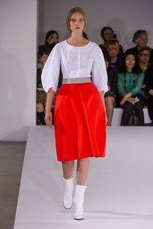 Jil Sander Spring 2013 Ready-to-Wear Collection - Vogue Jil Sander, High Fashion, Fashion Show, Fashion Outfits, Milan Fashion, Fashion Weeks, Street Fashion, Luxury Fashion, Fashion Trends