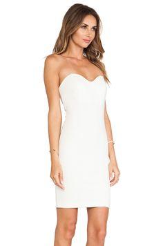 Kas kayi short sleeve white mini dress