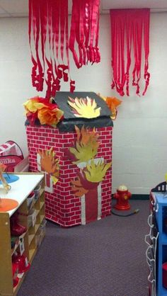 pixels Source by Dramatic Play Themes, Dramatic Play Area, Dramatic Play Centers, Firefighter Dramatic Play, Fire Safety Week, Fire Prevention Week, People Who Help Us, Community Helpers Preschool, Role Play Areas