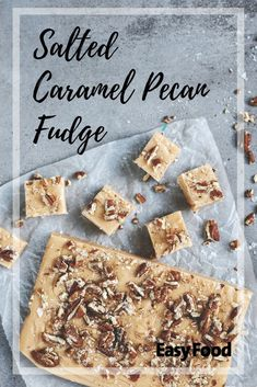 Salted caramel pecan fudge for the win! Absolutely scrumptious! #pecan #fudge #saltedcaramel