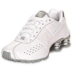 Blinged Nike Womens NIKE Shox Current Shoes White by Blingsshop