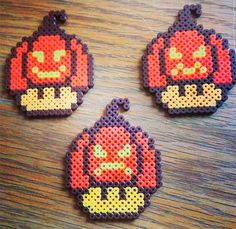 1up halloween perlerbeads