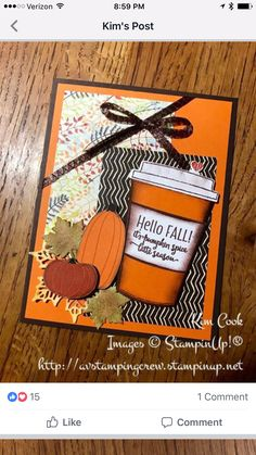 Stampin' Up! Merry Cafe handmade card