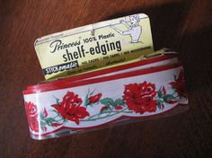 For use on open shelving.  Another item my mother also had.  I got to help change the shelf paper-wasn't I lucky?