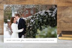 Sparkling Snow Christmas Photo Cards by Erin Deegan at minted.com