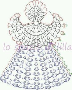 Collezione di angeli all'uncinetto con schemi / Crochet angels collection, free charts