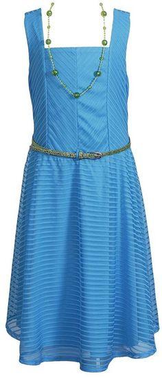 Emily west textured mesh dress - girls 7-16 on shopstyle.com