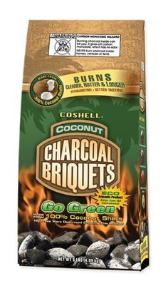 Coshell COSAZ9 9-Pound Bag Coconut Shell Charcoal Briquettes by Coshell…