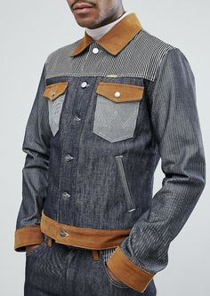 Wrangler Peter Max Western Denim Jacket Dry Selvedge from ASOS (men, style, fashion, clothing, shopping, recommendations, stylish, menswear, male, streetstyle, inspo, outfit, fall, winter, spring, summer, ad, personal) #affiliate