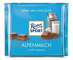 RITTER SPORT Schokolade Alpenmilch 250g