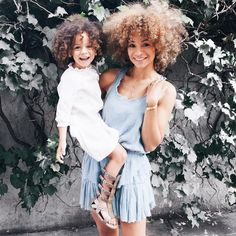Mom and London in bohemian look