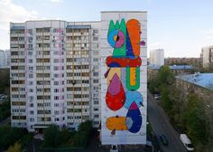 Street Art By Sixes Paredes For LGZ Festival In Moscow, Russia. 1