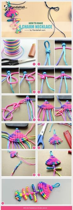 Jewelry Making Tutorial--How to Make Charm Necklace with Colorful Nylon Thread   PandaHall Beads Jewelry Blog