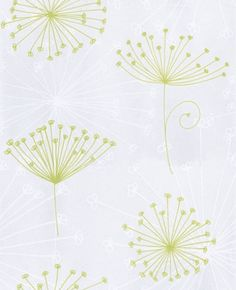 Papyrus (12017) - Raffi Wallpapers - A stylized Alium flower with an embossed texture. Showing in lime green on a off white background - other colour ways available. Please request a sample for true colour match. Paste-the-wall product.
