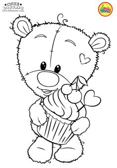 Cuties Coloring Pages for Kids - Free Preschool Printables - Slatkice Bojanke - Cute Animal Coloring Books by BonTon TV Unicorn Coloring Pages, Adult Coloring Book Pages, Cute Coloring Pages, Disney Coloring Pages, Animal Coloring Pages, Coloring Books, Free Printable Coloring Sheets, Coloring Sheets For Kids, Superhero Coloring