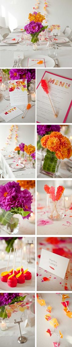 Hello! Here we are in fall and the only real nod to the season I am making is by using these gloriously bright dahlias. Otherwise it's all about color for this design. October's table was directly inspired by this awesome … Continue reading →