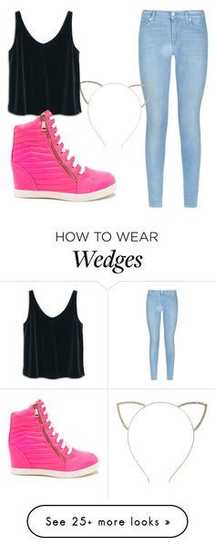 """Untitled #152"" by oriana1221 on Polyvore featuring 7 For All Mankind, Cara and…"