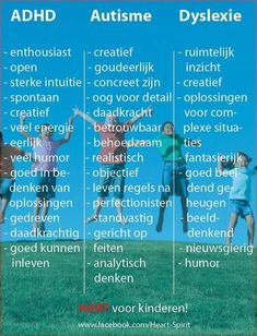 The positive 'symptoms' of ADHD, Autism and Dyslexia in Dutch Coaching, Baby Massage, Social Work, Social Skills, Art Therapy, Speech Therapy, Trauma Therapy, Adhd Quotes, Special Educational Needs