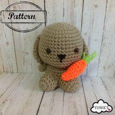 Crochet Amigurumi Pattern : Bunny with carrot amigurumi by Yunies