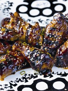 Grilled Firecracker Wings - I think I'll try this with chicken breasts, the sauce looks delectable!