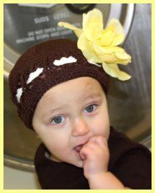 Christian Clothing | Faith Baby | 'Brandy' Style Crochet Beanie  FaithBaby.com
