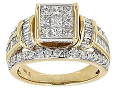 round, baguette and princess cut white diamond, yellow gold quad ring. measures approximately x and is not sizeable. Diamond Rings For Sale, White Diamond Ring, Diamond Gemstone, Yellow Gold Rings, Diamond Earrings, Diamond Jewelry, Gold Wedding Rings, Diamond Wedding Bands, Bridal Rings