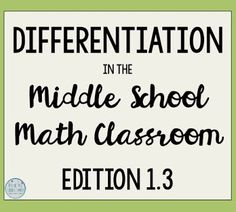 My number one passion for math education is differentiation, so once I started writing I couldn't stop. Today I want to wrap up my thoughts on differentiating based on readiness with 3 final strategies: leveled take home assessments, choose your challenge, and strategic grouping.  By Free to Discover.