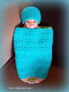 *Free Crochet Pattern:  ~ Dly's Hooks and Yarns ~: ~ cute clusters preemie baby cocoon ~