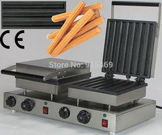 415.00$  Buy here - http://ali4eg.worldwells.pw/go.php?t=32715001721 - Free Shipping 14pcs 110v 220v Electric Commercial Dual Churros Machine Maker Iron Baker 415.00$