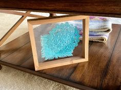 Crochet Doily Art - Blue Doliy - Home Decor - Farmhouse Decoration – Borgmanns Creations Den Decor, Home Decor, Doily Art, Rustic Home Interiors, Country Farmhouse Decor, Parent Gifts, Gifts For Wedding Party, Hanging Signs, Crochet Doilies