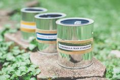 Replace your old, weathered tiki torches with beautiful, colorful DIY wine bottle citronella candles. Citronella Candles, Diy Candles, Glass Bottle Crafts, Glass Bottles, Wine Bottles, Natural Candles, Diy Planters, Paint Cans, Tiki Torches