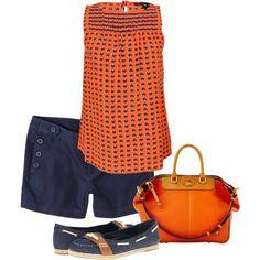 Orange and navy. #wareagle #gameday