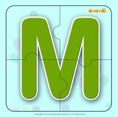 Alphabet M – Easy online, free to download, #alphabet #jigsawpuzzles tied to lesson plans and printable activities for pre-schoolers, kindergarden and early elementary. More such jigsaw puzzlese article at http://mocomi.com/fun/arts-crafts/printables/jigsaw-puzzles/