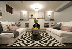 Income Property on HGTV, your source for Income Property videos, full episodes, photos and updates. Watch Income Property on HGTV. Modern Spaces, Small Spaces, Grey Painted Kitchen, Income Property, Basement Makeover, Basement Remodeling, Basement Ideas, Remodeling Ideas, My Living Room