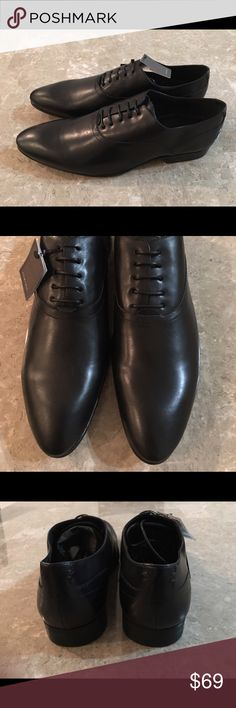 New Men's Dress Leather Shoes by Zara Man Brand New With Tags Attached.  Retail @ $99.90.    All Leather! Zara Shoes Oxfords & Derbys