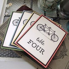 Tandem Bicycle Wedding Reception Table by SunshineandRavioli Wedding Reception Tables, Wedding Table Decorations, Wedding Signage, Wedding Table Numbers, Wedding Themes, Wedding Blog, Our Wedding, Wedding Ideas, Wedding Crafts