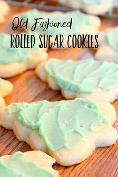 Old Fashioned Rolled Sugar Cookie Recipe – The Best Christmas Cookies Amish Sugar Cookies, Roll Out Sugar Cookies, Soft Sugar Cookie Recipe, Cookies Et Biscuits, Old Fashioned Sugar Cookie Recipe, Valentine Sugar Cookies Recipe, Vintage Sugar Cookie Recipe, Sugar Cookie Recipes, Easy Sugar Cookie Frosting