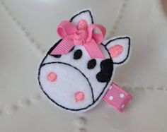 Cute Pink Elephant Hair Clip by MyLittlePixies on Etsy