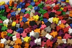 Colourful meeple