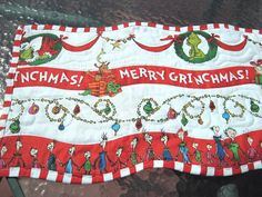 Quilted Table Runner  Merry Grinchmas by KellettKreations on Etsy, $34.00
