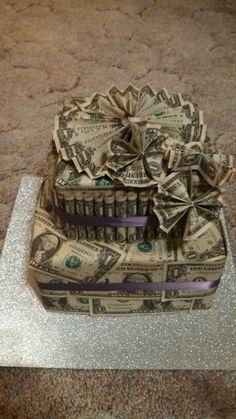Different style flower dollar cake.