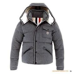 Moncler Branson Down Jackets Men Grey