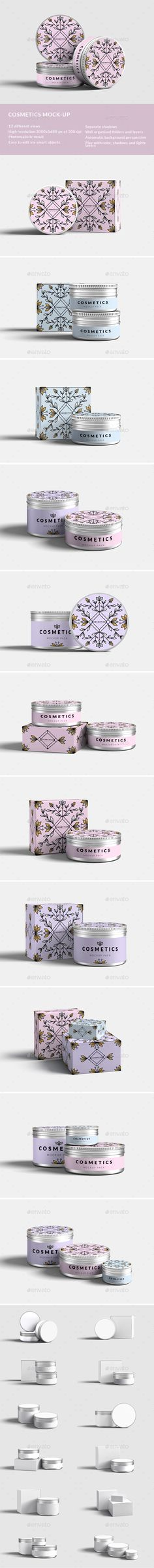 Cosmetics mock-up Design Template  - Product Mock-Ups Graphics Design Template PSD. Download here: https://graphicriver.net/item/cosmetics-mockup/18088917?ref=yinkira