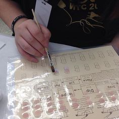 @diane_ttn_nailsquad's students having fun with their practice sheets at Western Technology Center in Oklahoma