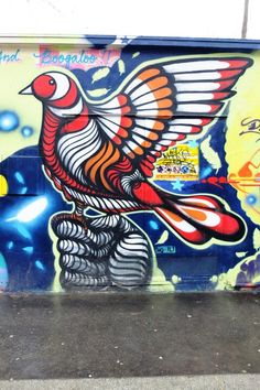 Paris 19 - rue de l'Ourcq - street art - bruno Big - bird