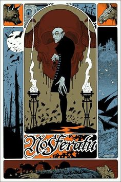 VHTF William Stout Nosferatu LE #'d Movie Poster Print Mondo Ken Taylor Tyler