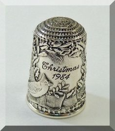 Sterling Silver Thimbles | Franklin Mint Sterling Silver Detailed Vintage Thimble