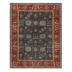 Constantinople-Bidjar 1773 Hand Knotted Rectangle Area Rug - Blue - 1773RS02000300450