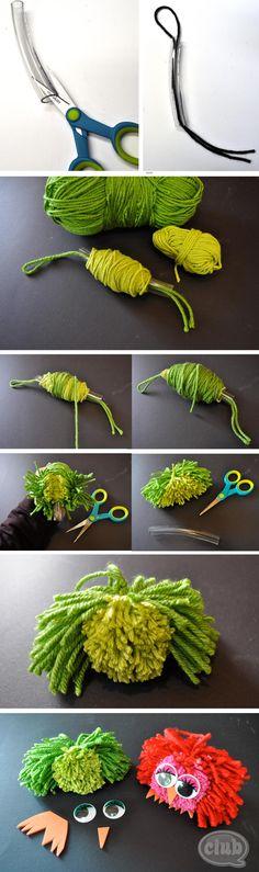DIY Pom Pom Owls